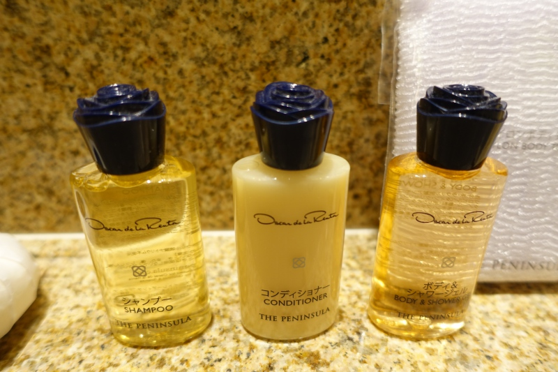Oscar de la Renta Bath Products, The Peninsula Tokyo Review 2017