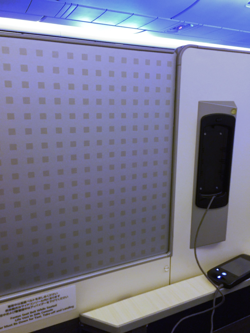 Privacy Screen, JAL 777-300ER Business Class Sky Suite Review