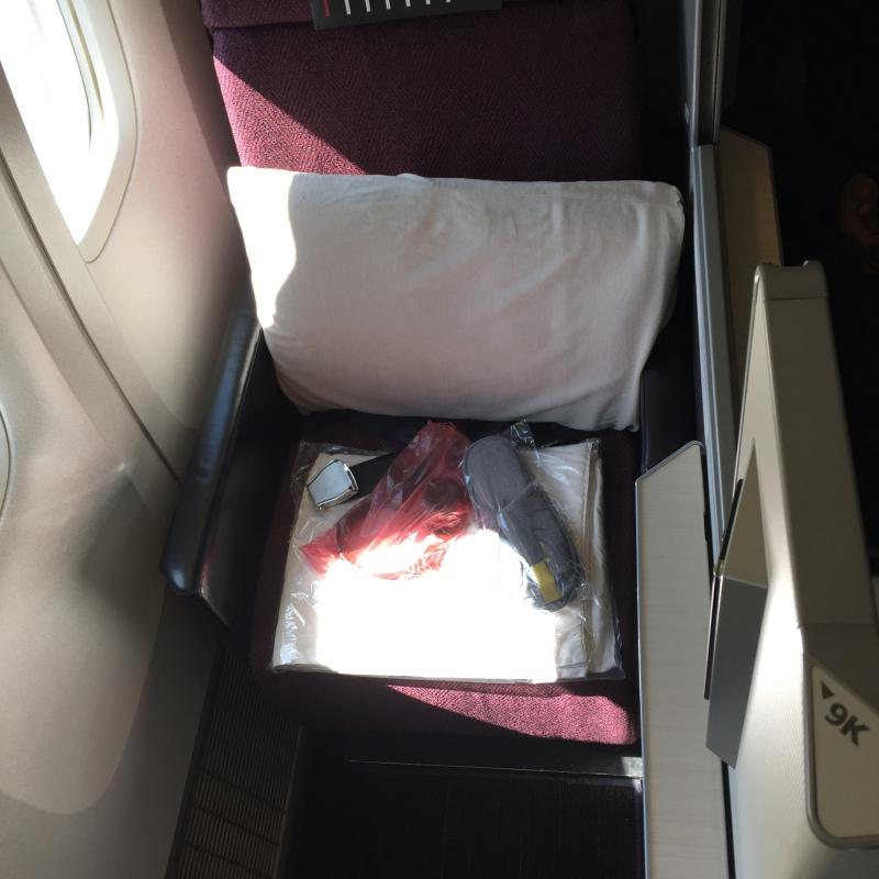 Japan Airlines 777-300ER Business Class Sky Suite 9K