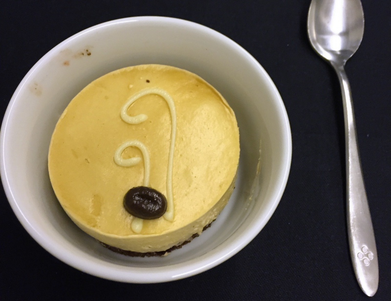 Coffee Mousse Dessert, Japan Airlines Business Class Review
