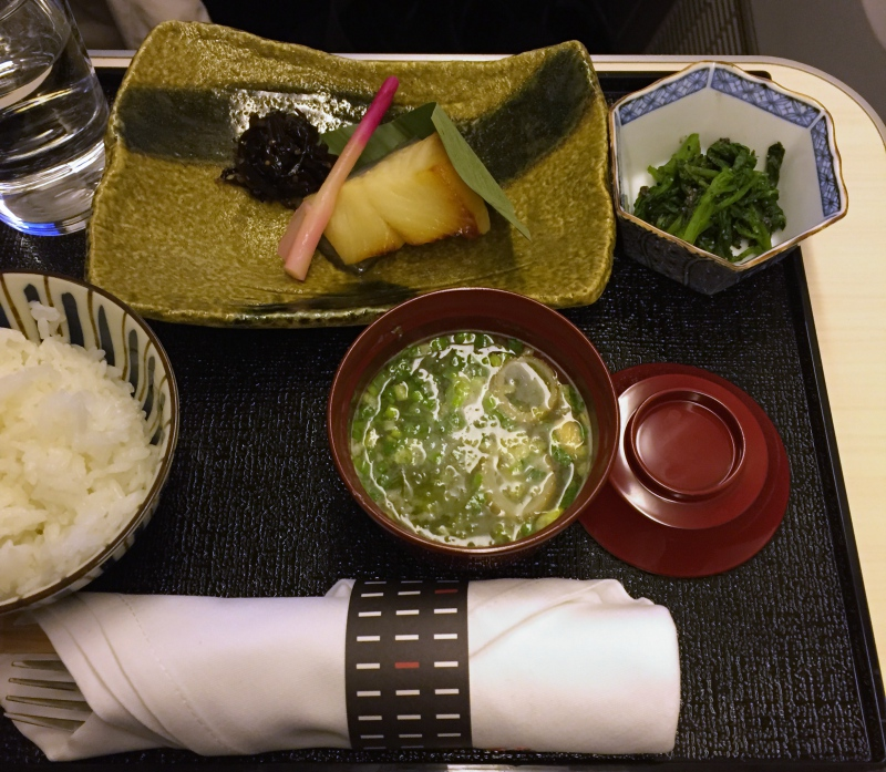 Japanese Light Meal, Japan Airlines Business Class Review