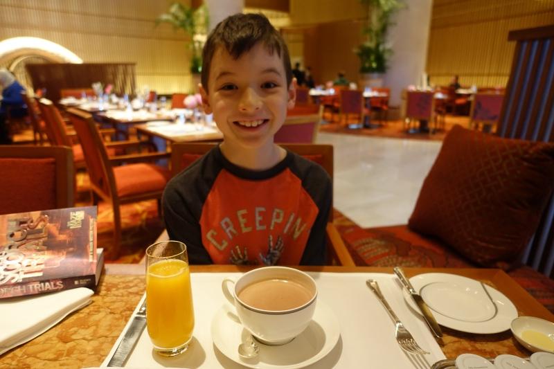 Looking Forward to Orange Juice and Hot Chocolate, The Peninsula Tokyo