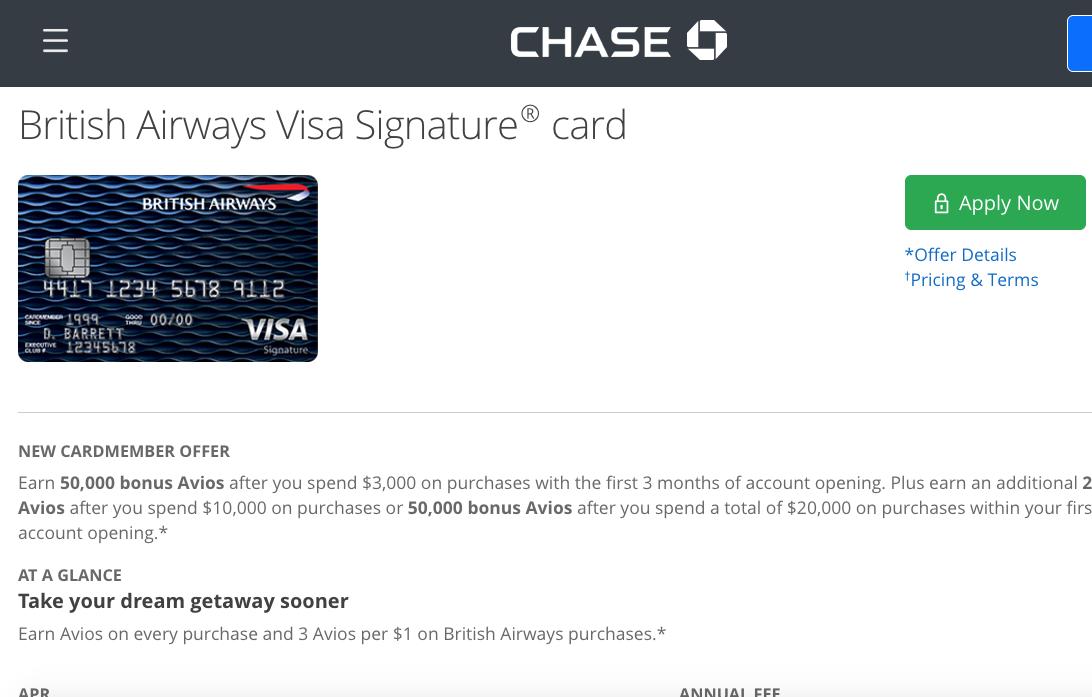 100K British Airways Bonus Offer Not Worth It