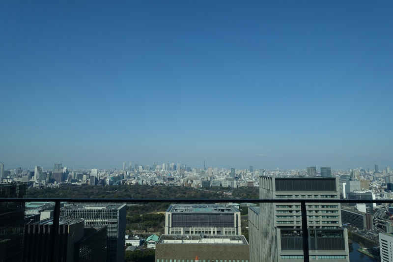 View from The Restaurant at Aman Tokyo