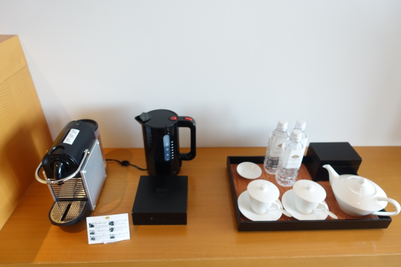 Nespresso Machine and Tea Pot, Mandarin Oriental Tokyo Review