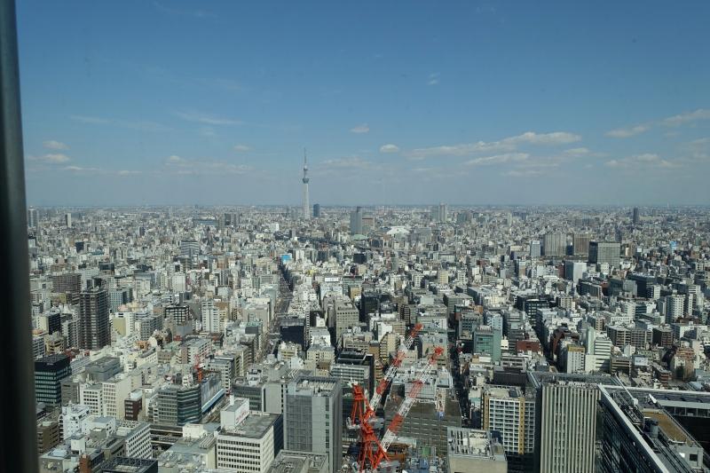 View from Sushi Sora, Mandarin Oriental Tokyo