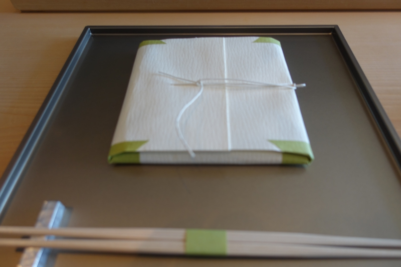 Napkin Wrapped As Present, Sushi Sora Review
