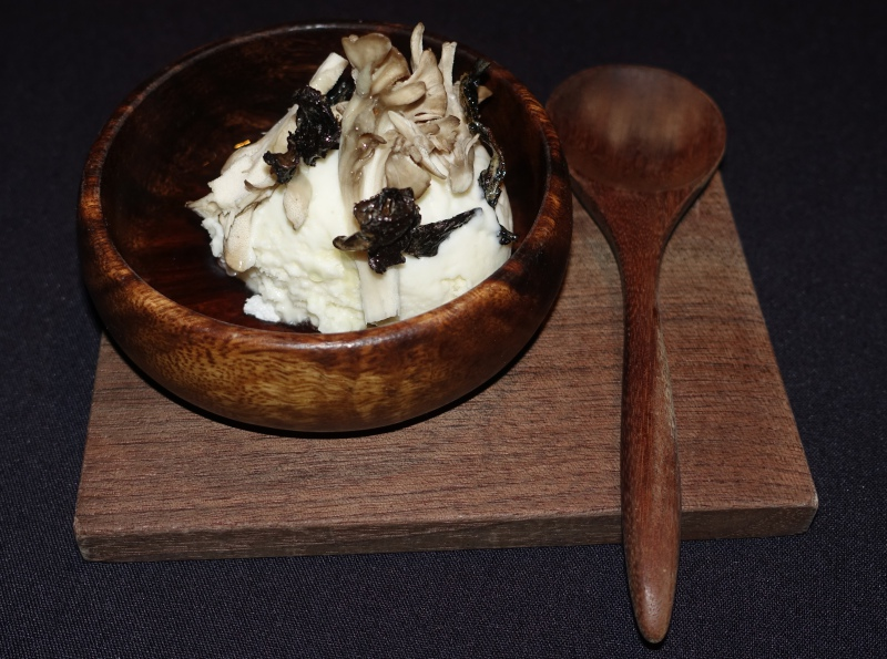 Birchwood Ice Cream with Crispy Mushrooms, Aska NYC Review