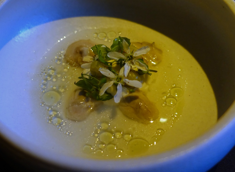 Maine Oysters with Gooseberries and Juniper, Aska NYC Review
