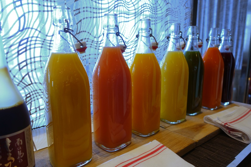 Fruit Juices, Mandarin Oriental Tokyo Breakfast Buffet Review