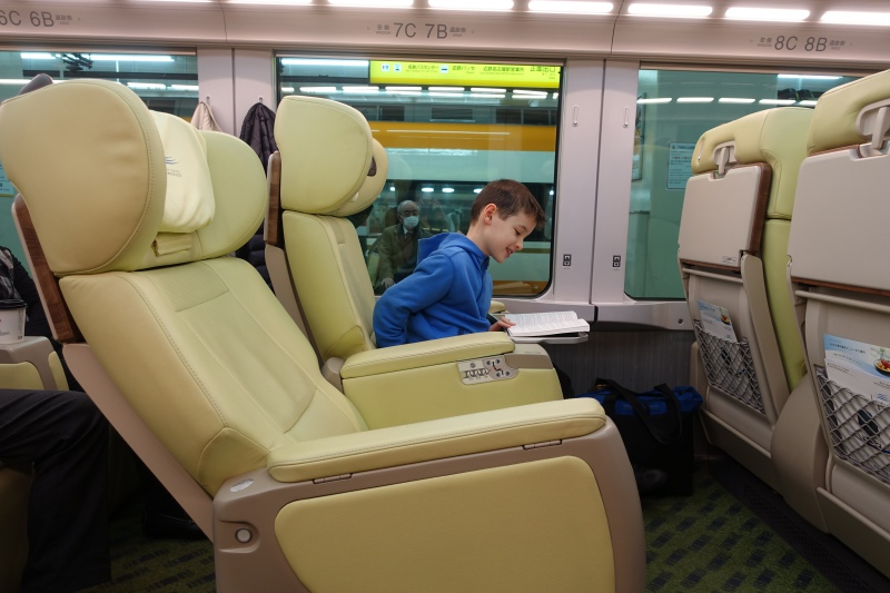 Reclined Seat, Premium Express Shimakaze Train