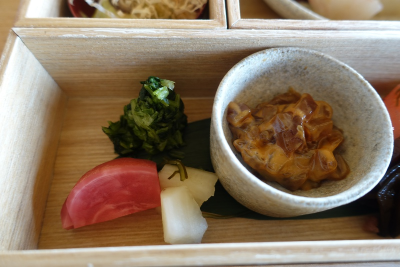 Amanemu Japanese Breakfast: Japanese Pickles and Tuna