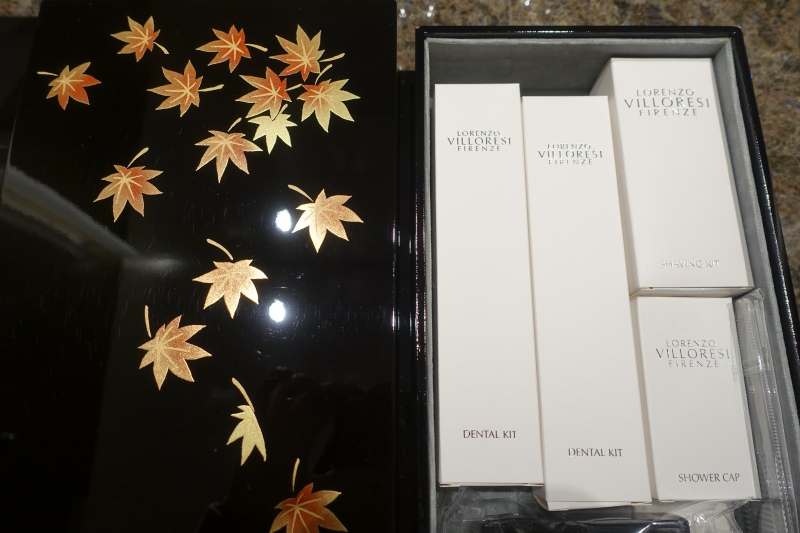Lorenzo Villoresi Toiletries in Laquer Box, Four Seasons Kyoto