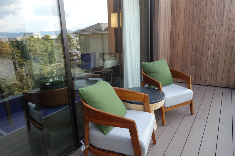Four Seasons Room Balcony, Four Seasons Kyoto Review