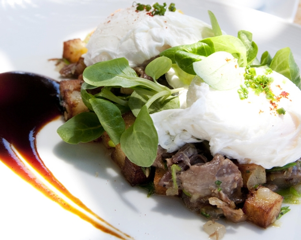 Duck Confit Hash for brunch, Auberge du Soleil, Napa