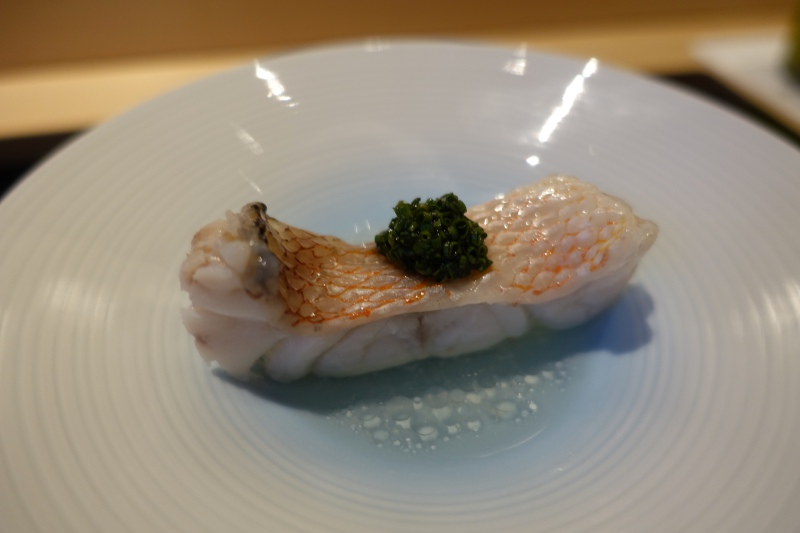 Sea Bream Steamed with Sake, Sushi Wakon Review