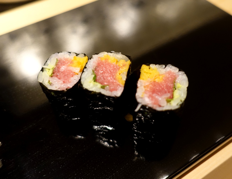 Roll of Tuna, Japanese Pickles and Shiso, Sushi Wakon Review
