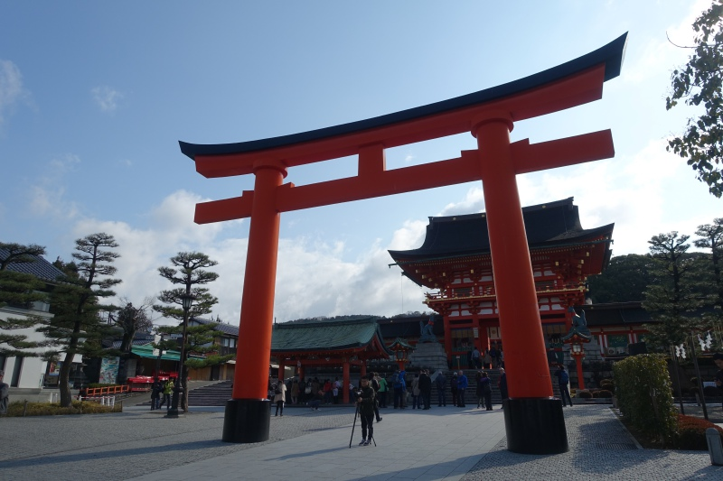 Entrance to Fushimi Inari Shrine, Kyoto