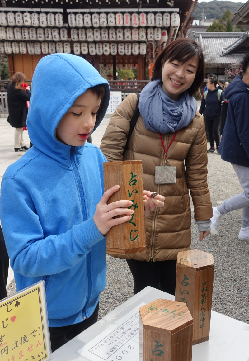 Fortune Telling, Kyoto with Kids