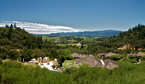 View from Auberge du Soleil, Napa Valley