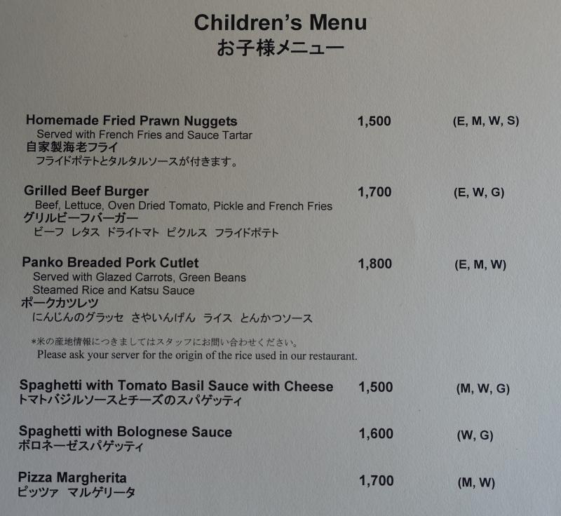 Trattoria Sette Children's Menu