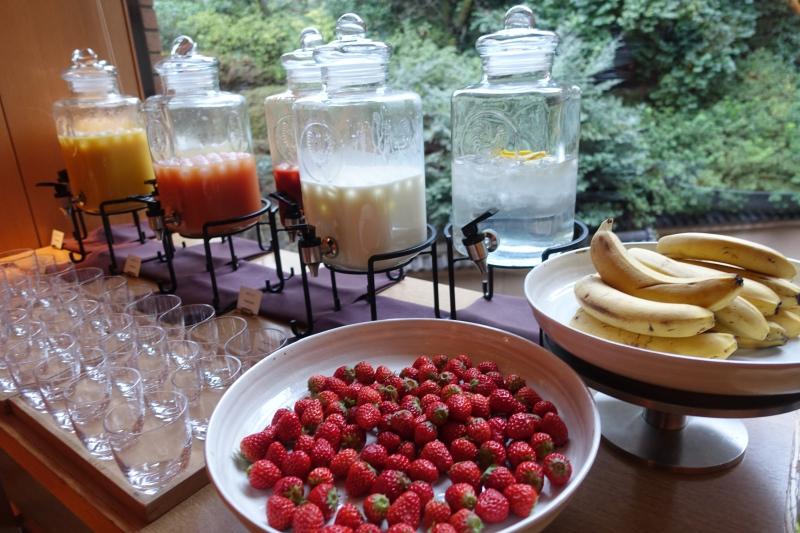 Hyatt Regency Kyoto Breakfast Fruits and Juices