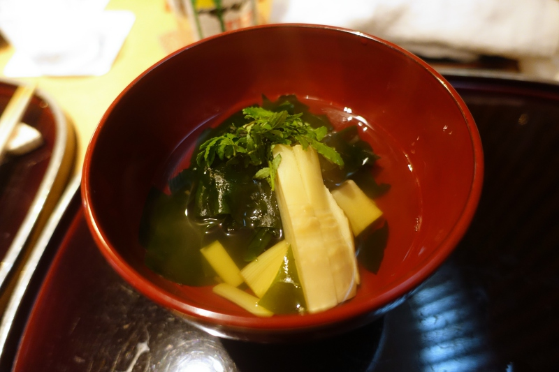 Dashi with Spring Bamboo Shoot, Kikuchi Tokyo Review