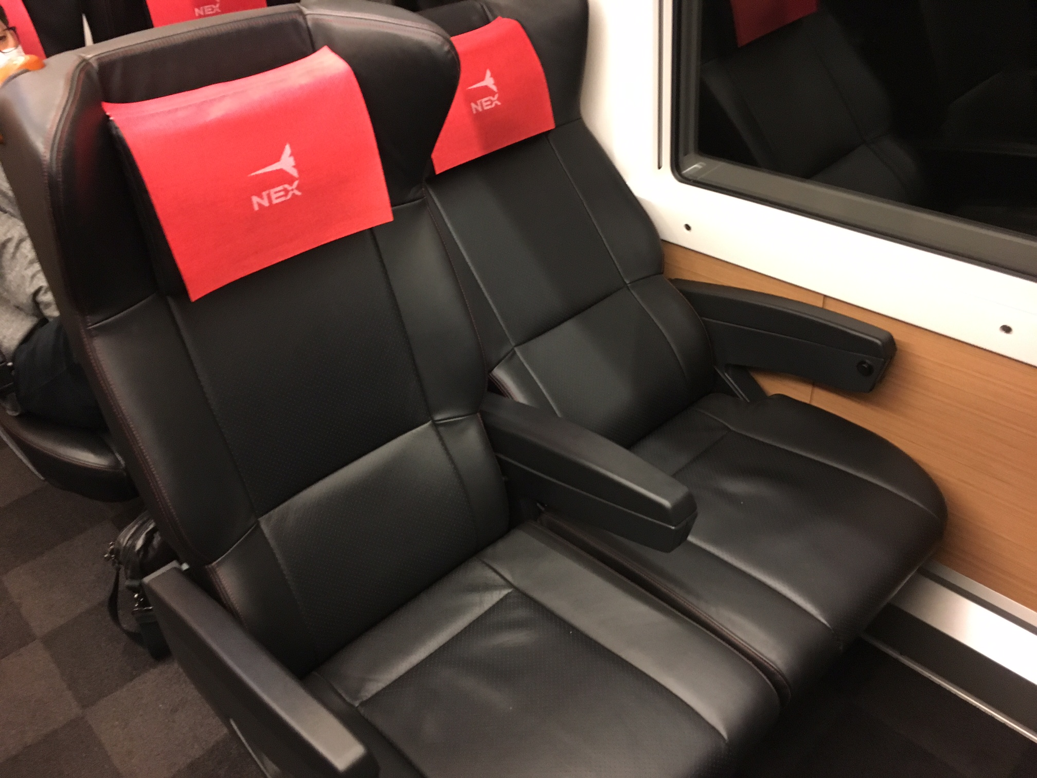 Narita Express Train Green Car Seats
