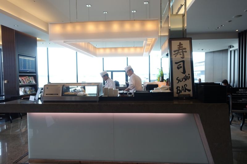 JAL First Class Lounge Sushi Bar