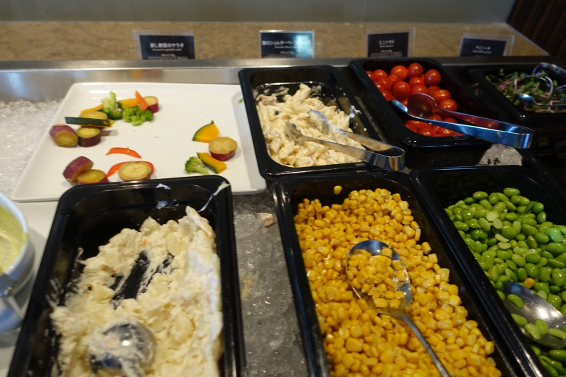 Salad Bar, JAL First Class Lounge Tokyo NRT Review
