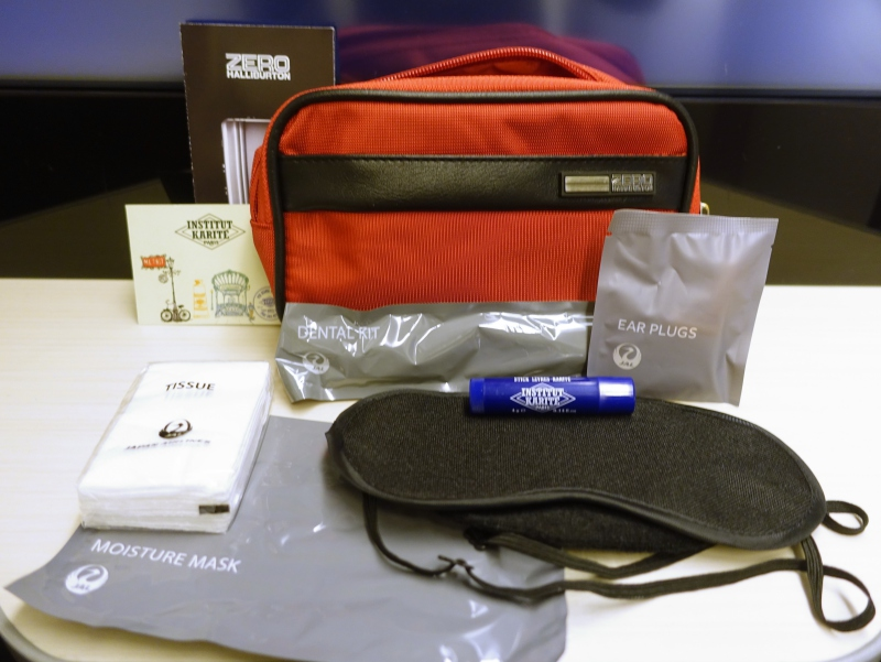 JAL Sky Suite Business Class Amenity Kit Review