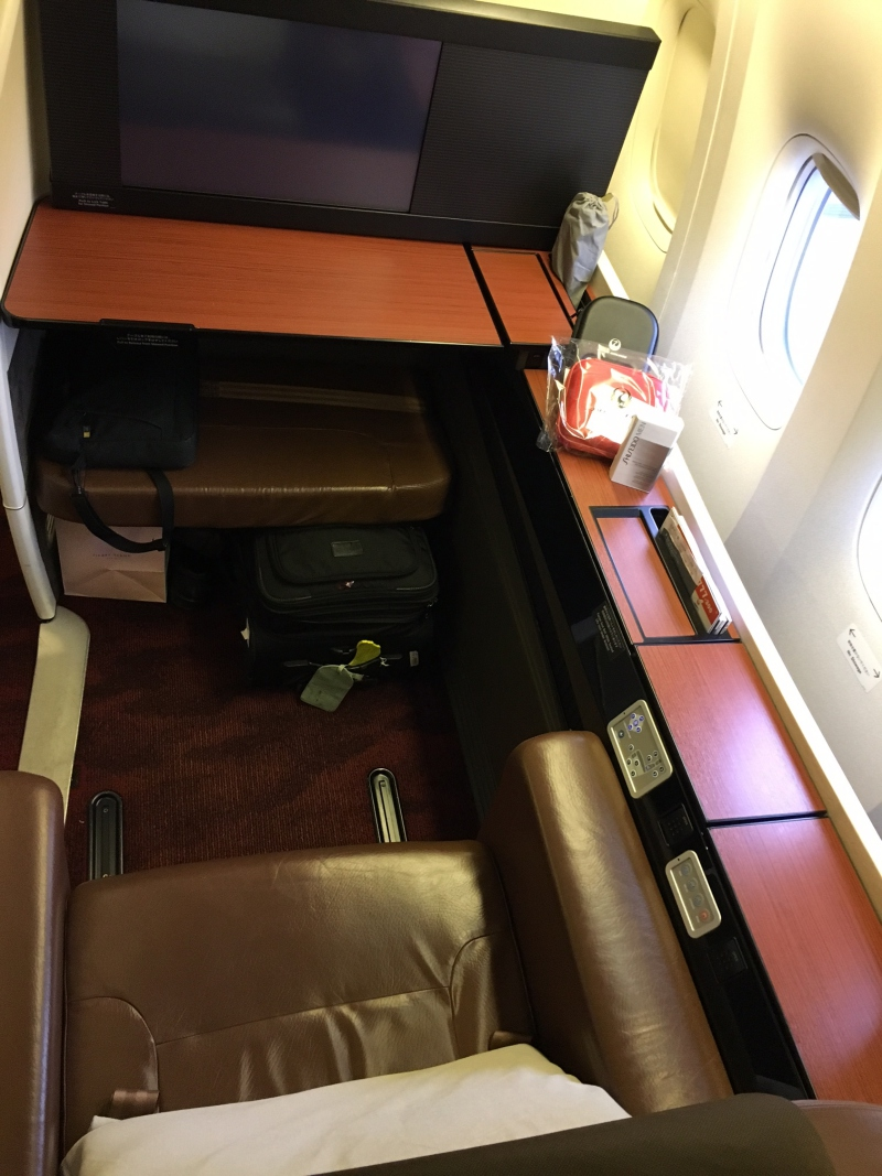 JAL First Class Seat Review