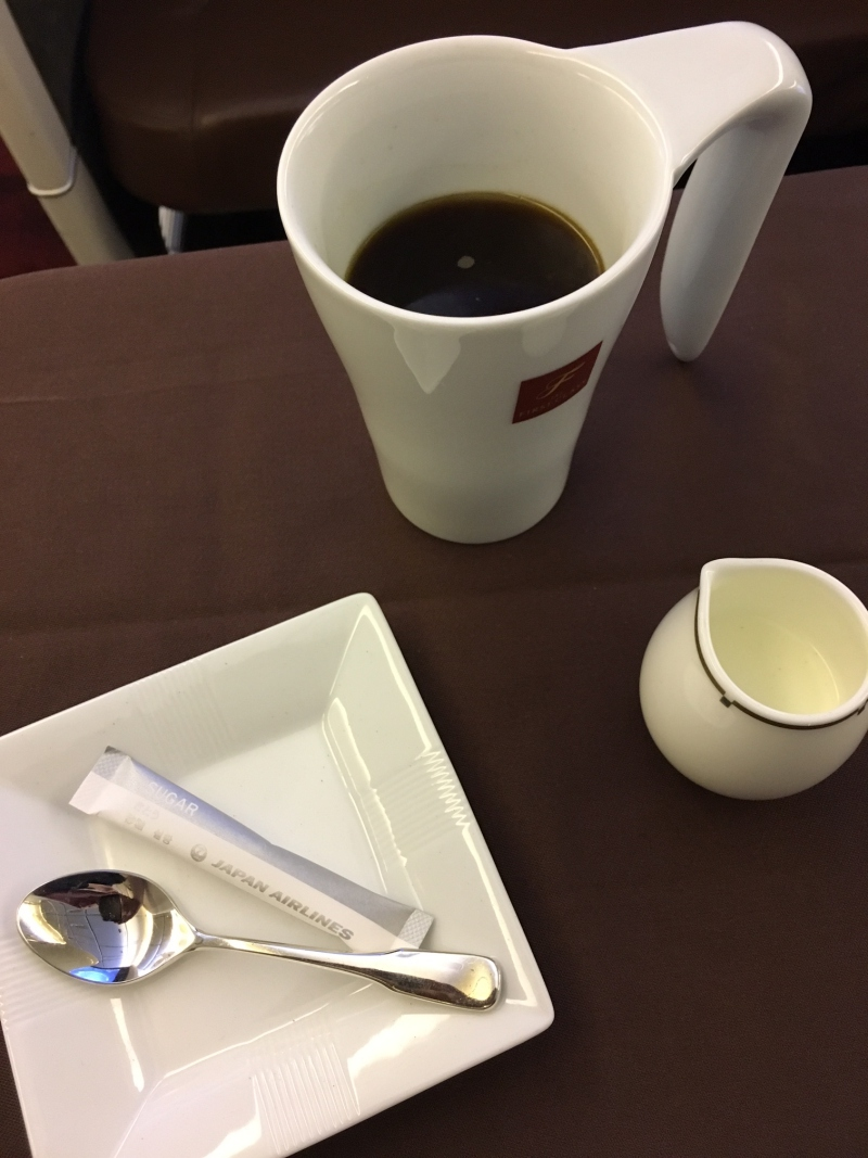 Coffee, JAL First Class Review
