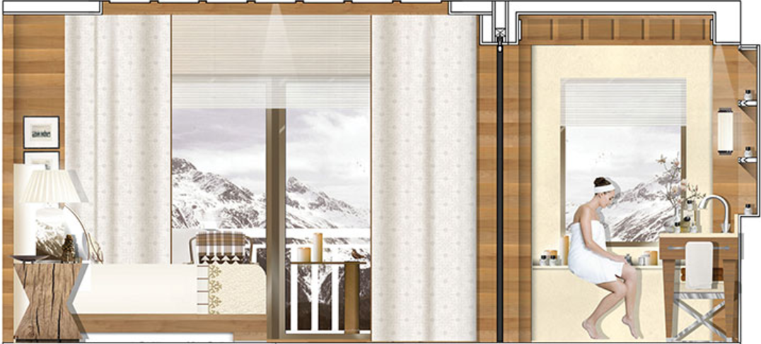 Four Seasons Megeve Room Design