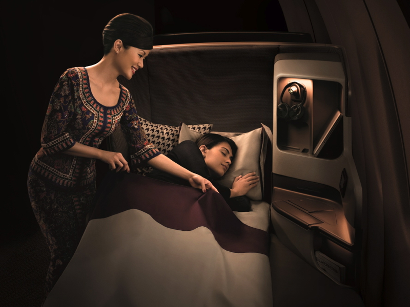 Client Tip: How to Make Airline Business Class Beds More Comfortable