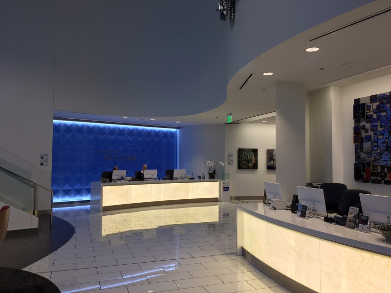 Delta Sky Club Seattle Reception