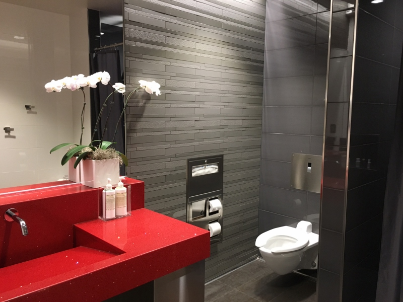 Shower Room, Delta Sky Club Seattle Review