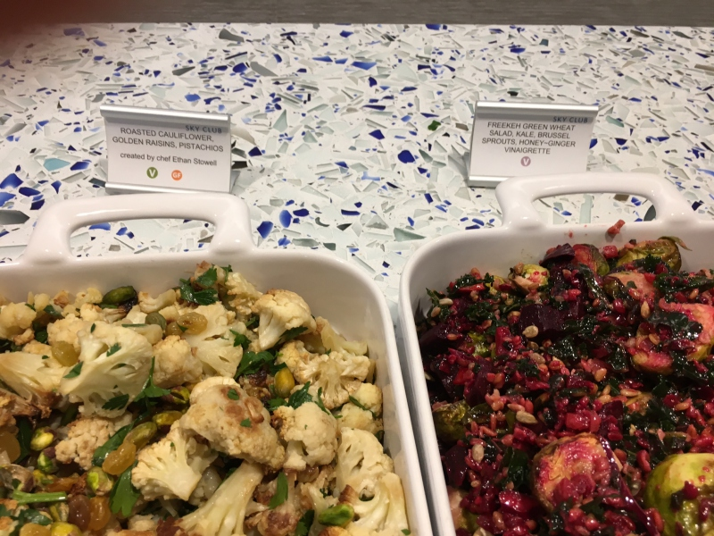 Roasted Cauliflower and Freekeh Green Wheat Salad, Delta Sky Club Seattle