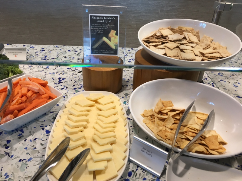 Crudites and Beecher's Cheese, Delta Sky Club Seattle Review