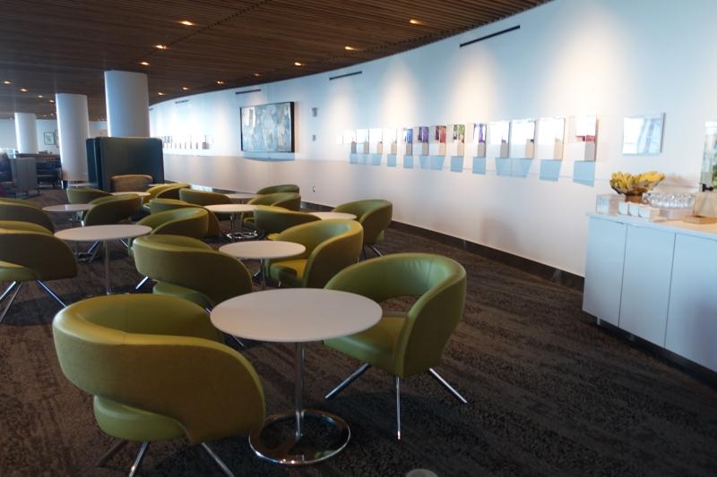 Delta Sky Club Seattle Mezzanine Level Seating