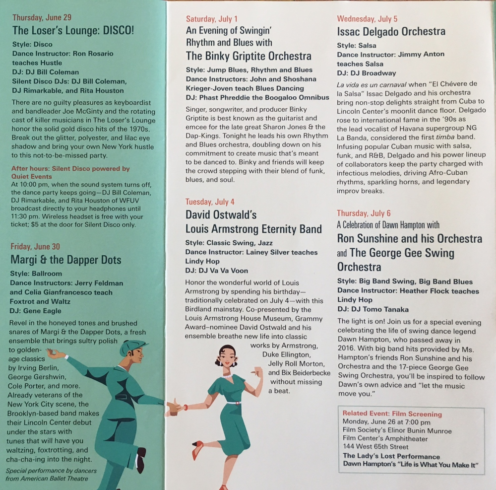 Lincoln Center Midsummer Night Swing 2017 Schedule