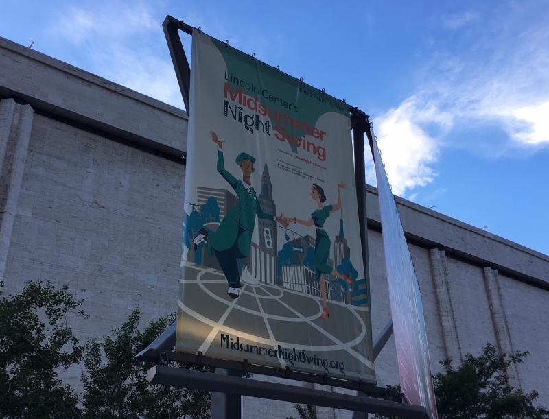 Banner for Lincoln Center Midsummer Night Swing 2017