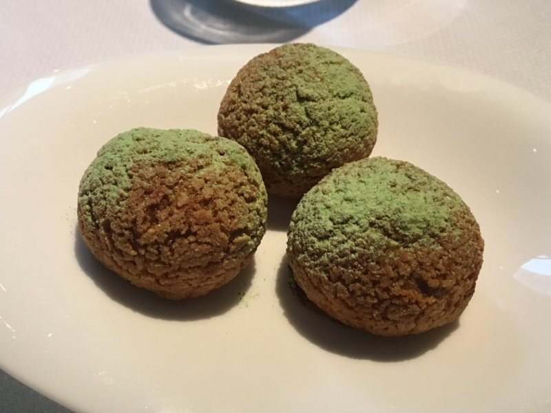 Spring Pea Gougeres Amuse Bouche, The Modern NYC Review