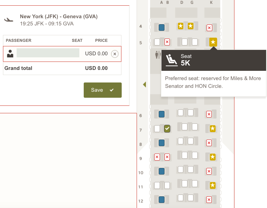 Swiss Business Class: Some Seats Reserved only for Miles & More Senators and HON Circle Members
