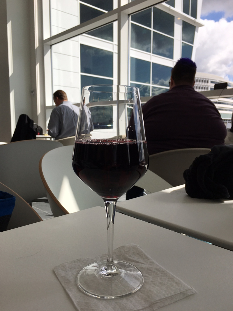 Glass of Wine, AMEX Centurion Lounge Seattle Review