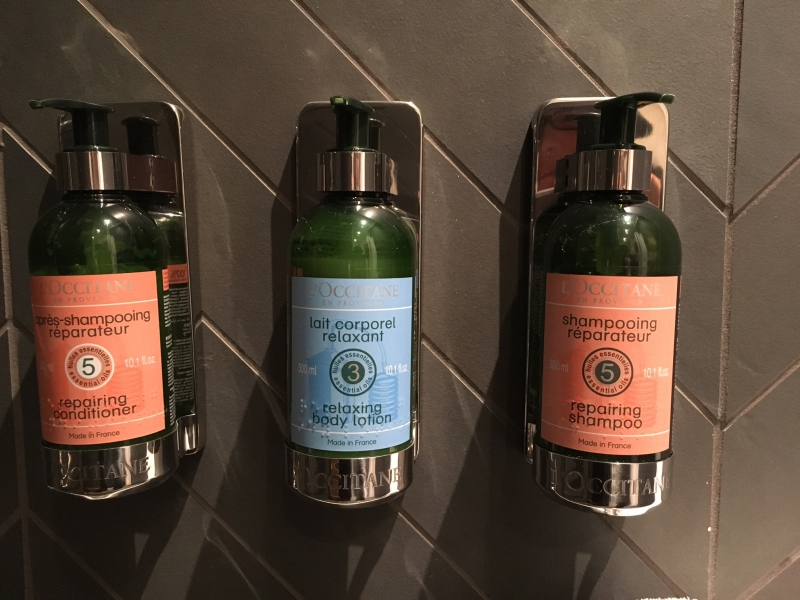 L'Occitane Bath Products, Shower Room at AMEX Centurion Lounge SEA