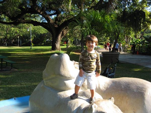 At the Honolulu Zoo, Waikiki, Hawaii