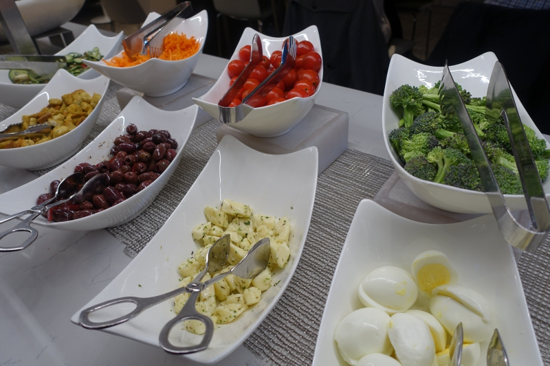 Salad Bar, AMEX Centurion Lounge Seattle Review