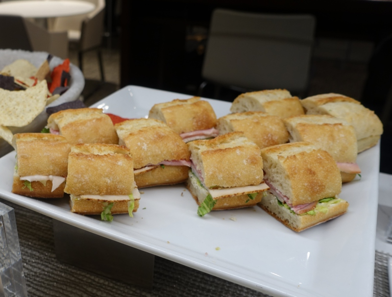 Sandwiches, AMEX Centurion Lounge Seattle Review