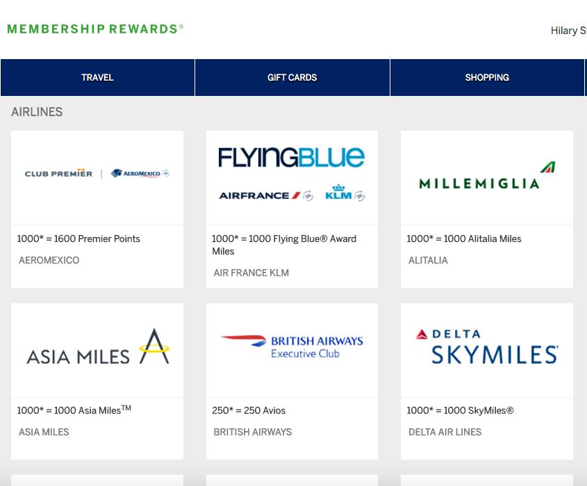 Membership Rewards Transfer 1:1 to British Airways Avios